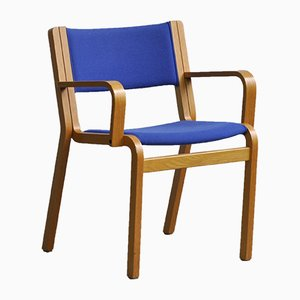 Oak Plywood Armchair by Rud Thygesen & Johnny Sorensen for Magnus Olesen, 1972