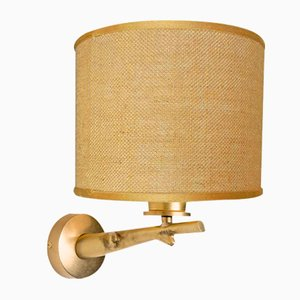 Wandlampe aus Eiche in Ast-Optik von Brass Brasson