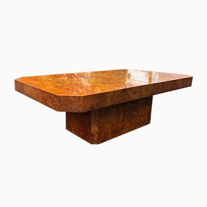 Burl Coffee Table by Willy Rizzo, 1972