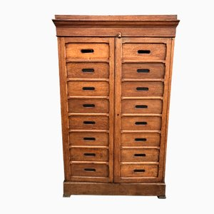 Oak Notary Cabinet, 1940s