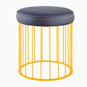 Cage Stool by Niccolò De Ruvo for Brass Brothers
