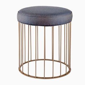 Sgabello Cage di Niccolò De Ruvo per Brass Brothers
