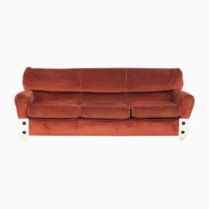 Space Age Velvet Sofa, 1970s