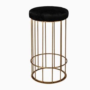 Cage Hocker von Niccolò De Ruvo für Brass Brothers