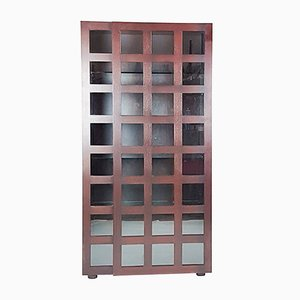 Rosewood & Glass LB65 Cabinet Bookcase by Marco Zanuso for Poggi, 1968