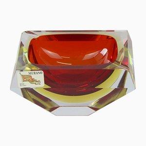 Cuenco o cenicero de cristal de Murano de Alessandro Mandruzzato, años 60