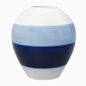 Mid-Century Vase in Eiform von Siegmund Schütz für KPM Berlin, 1960er