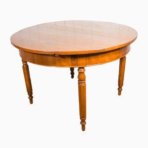 Tavolo da pranzo impiallacciato in legno di quercia e ciliegio, fine XIX secolo