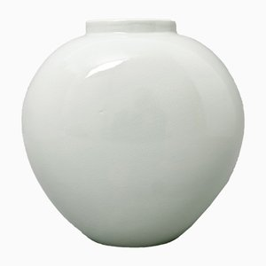 Vintage Heart-Shaped Celadon Porcelain Vase by Trude Petri for KPM Berlin