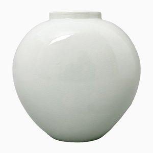 Vintage Vase aus Seladonporzellan in Herzform von Trude Petri für KPM Berlin