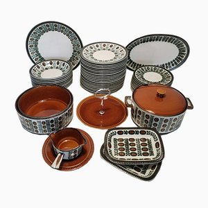 Ceramic Service with Nut Decor from Boch, 1970s
