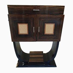 Mueble bar Art Déco de Macassar y madera de arce