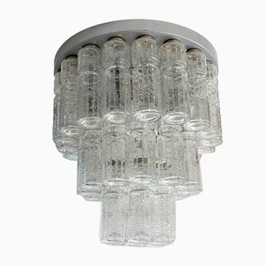 Plafón Lightfall de cristal de Raak, años 70