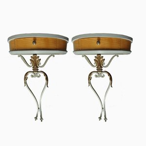 Small Art Deco Consoles or Bedside Tables, Set of 2