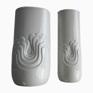 Vases Op-Art en Céramique par Tapio Wirkkala pour Rosenthal, 1960s