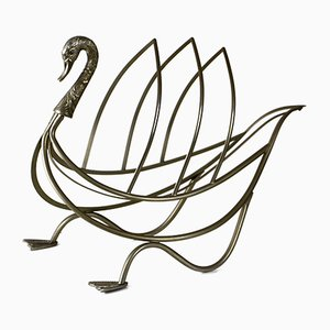 Swan Magazine Rack from Maison Jansen, 1960s