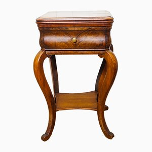 Louis Philippe Walnut & Spruce Side Table with Drawer, 1850s