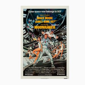 Póster Moonraker vintage de Daniel Goozee, 1979
