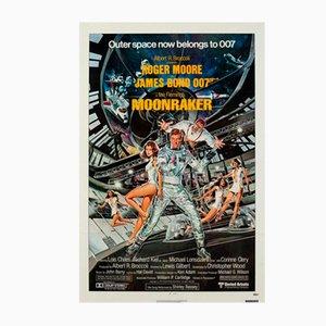 Vintage Moonraker Poster by Daniel Goozee, 1979
