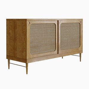 Natural Oak & Rattan Sideboard by Lind + Almond for Jönsson Inventar