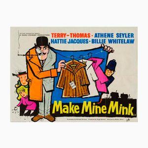 Póster de la película Make Make Mink vintage, 1960