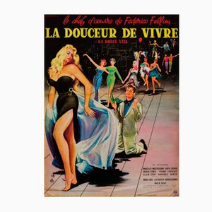 La Dolce Vita Poster by Yves Thos, 1960s