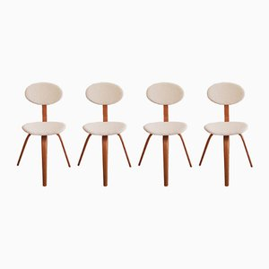 No. 3 Bow-Wood Chairs from Steiner, 1950s, Set of 4