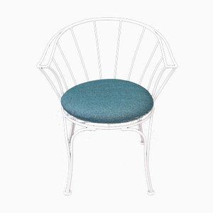 Gartenstuhl aus Stahl mit wasserabweisendem Sitz, 1950er