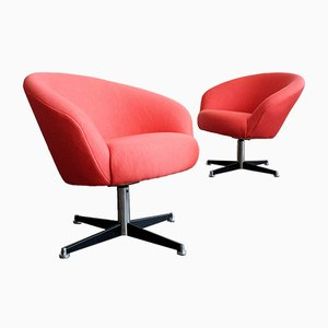 Swivel Lounge Chairs from VEB Deutsche Werkstätten Hellerau, 1960s, Set of 2