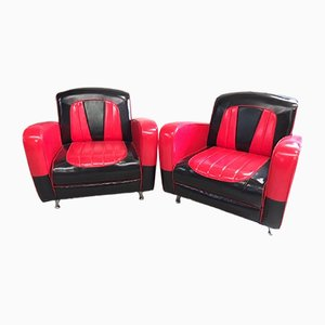 Rockabilly Lounge Chairs, 1980s, Set of 2