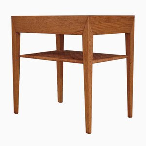 Mid-Century Oak Nightstand by Severin Hansen for Haslev