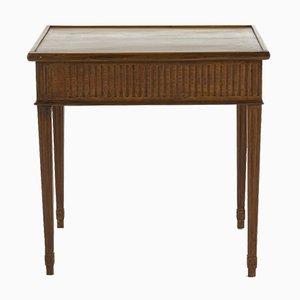 Französischer Spieltisch aus Mahagoni mit Tablett-Tischplatte, 18. Jh.