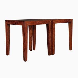 Tavolini in palissandro di Severin Hansen per Haslev, anni '60, set di 2