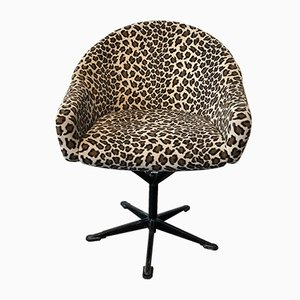Leopard Print Desk Chair, 1960s