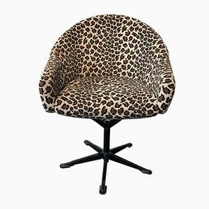 Schreibtischstuhl mit Leopardenmuster, 1960er