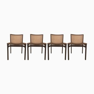 Italian Dining Chairs by Tito Agnoli for La Linea, 1960s, Set of 4