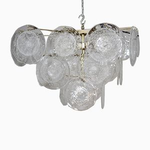 Glass Disc Chandelier by Gino Vistosi for Vistosi, 1950s