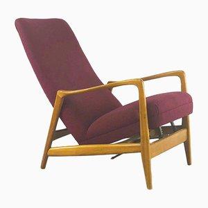 Poltrona nr. 829 Mid-Century reclinabile di Gio Ponti per Cassina, anni '50