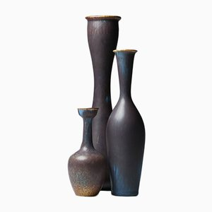 Vases Vintage par Gunnar Nylund pour Rörstrand, Set de 3