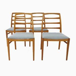 Schwedische Esszimmerstühle aus Eichenholz von Bertil Fridhagen für Bodafors, 1969, 4er Set