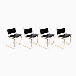 Französische Stühle aus Eisen, 1960er, 4er Set