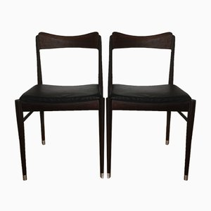 Mid-Century Modern Dining Chairs from AWA Meubelfabriek, Set of 2