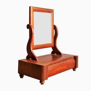 Espejo de mesa ajustable de palisandro con cajón, años 30
