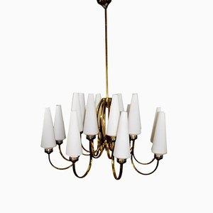 Lámpara de araña vintage de 16 luces de Stilnovo, años 60