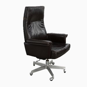 Model DS35 Dark Brown Leather Swivel Chair from de Sede, 1960s