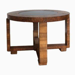 Tavolino da caffè Art Deco in noce