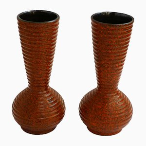 Vases en Faïence Vernis, Set de 2, 1960s