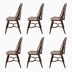 Windsor Chairs, 1920s, Set of 6