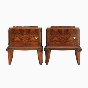 Art Deco Nightstands, 1930s, Set of 2
