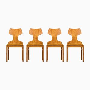 Scandinavian Modern Chairs by Alphons Loebenstein, 1960s, Set of 4